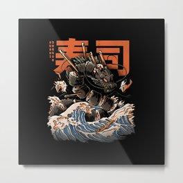 The Black Sushi Dragon Metal Print