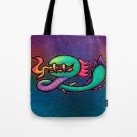 kraken Tote Bags featuring Kraken by likelikes