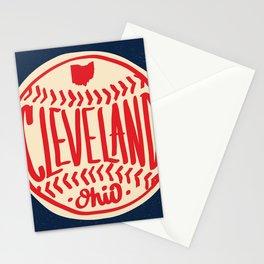 Cleveland Ohio Hand Drawn Baseball Typography Stationery Cards