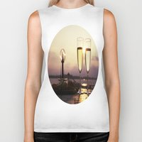 champagne Biker Tanks featuring Champagne Date by Brown Eyed Lady