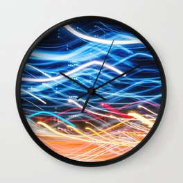 abstract light trail  Wall Clock