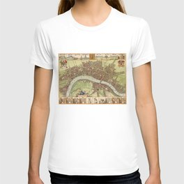 Vintage Map of London (17th Century) T-shirt
