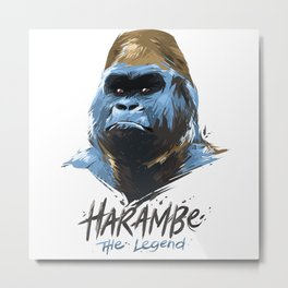 Harambe Metal Print