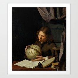 """Olivier van Deuren """"A Young Astronomer"""" Art Print"""