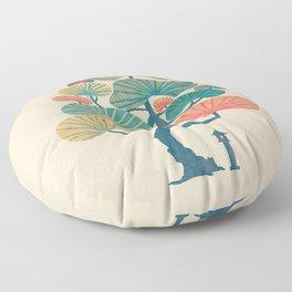 Japan garden Floor Pillow