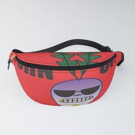 Turn Up! Turnt Turnip Red Round Fanny Pack