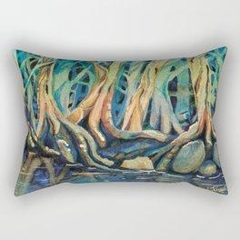 Kingfisher Forest Rectangular Pillow