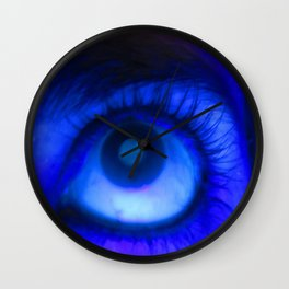 Blacklight Eye Wall Clock