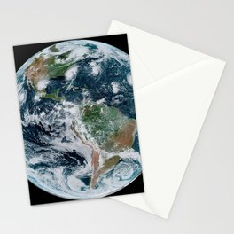 Four Tropical Hurricanes On Planet Earth from Space Satellite Photograph Stationery Cards