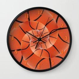 Droste Basketball Spiral  Wall Clock
