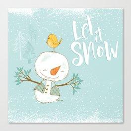 let it snow 4 Canvas Print