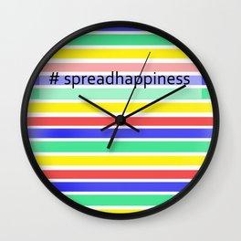 New Year Print Wall Clock