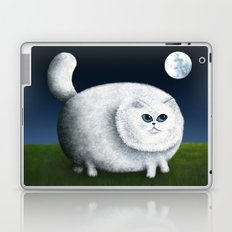 Fat Cat Looks at the Moon Laptop & iPad Skin