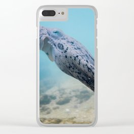 Octopus Swimming Away Clear iPhone Case