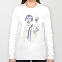 steve mcqueen Long Sleeve T-shirts featuring Steve McQueen- King of Cool by Adam Doyle