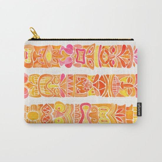Tiki Totems – Orange Ombré Carry-All Pouch