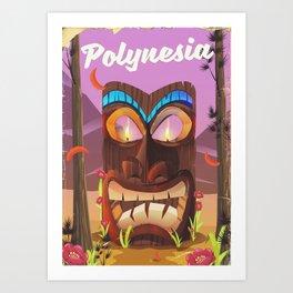 Polynesia Tiki mask Art Print