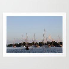 Marina II: Rowboat Art Print