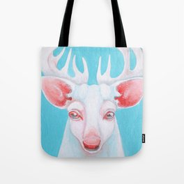 Portrait of a White Stag Tote Bag