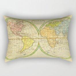 Vintage World Map 1798 Rectangular Pillow