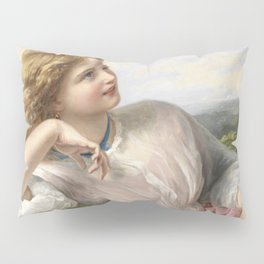 The Song Of The Lark 1903 By Sophie Gengembre Anderson | Reproduction Pillow Sham
