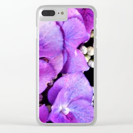 Purple Seeds Clear iPhone Case