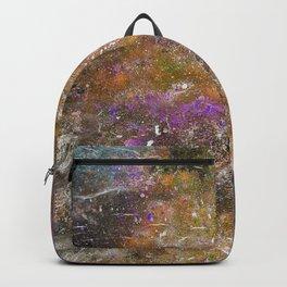 A galactic ocean -Orange- Cosmic Painting Art Backpack