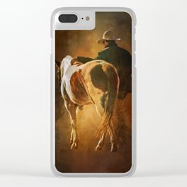Into The Sunset Clear iPhone Case