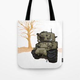 Sherman_(WWII COMBAT VEHICLES (USA) Tote Bag