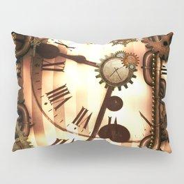 Steampunk, clocks and gears, vintage design Pillow Sham