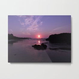 Purple Sunrise in Maine Metal Print