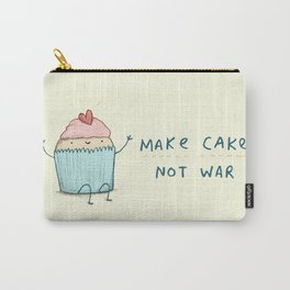Make Cake Not War Carry-All Pouch