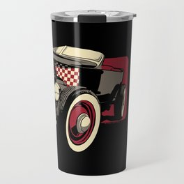 Old School Rat Rod Car Travel Mug