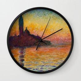 San Giorgio Maggiore by Twilight by Claude Monet Wall Clock
