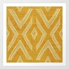 Birch in Gold Art Print