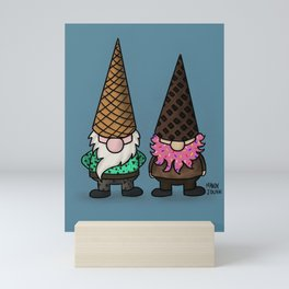Ice Cream Gnomes Mini Art Print