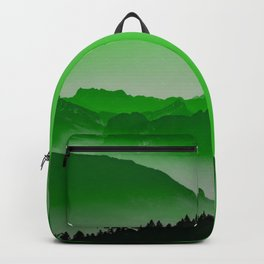 Rise above the mist. Green Backpack