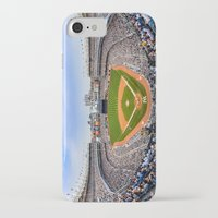 yankees iPhone & iPod Cases featuring New York Yankees - Color by Bust it Away Photography