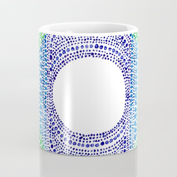 Rainbow Dot Mandala Coffee Mug