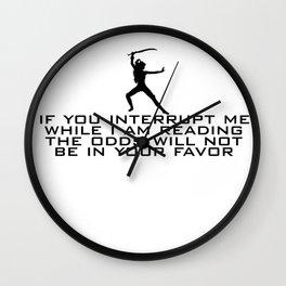 DO NOT INTERRUPT ME (FEMALE)  Wall Clock