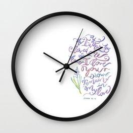 Remain in Love - John 15:9 Wall Clock