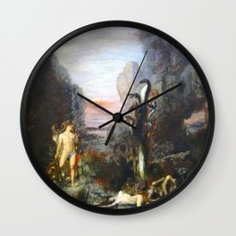 The Lernaean Hydra by Gustave Moreau (1876) Wall Clock