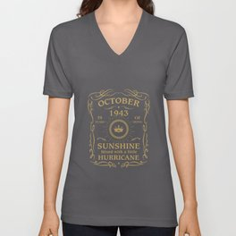 October 1943 Sunshine mixed Hurricane Unisex V-Neck