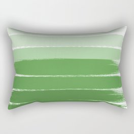 Yote - ombre green brushstrokes abstract minimal canvas painting art decor Rectangular Pillow