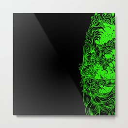 Sleeve Green Strong Metal Print
