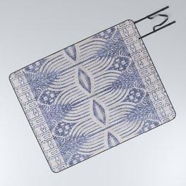 FRENCH LINEN TRIBAL IKAT Picnic Blanket