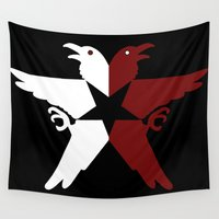 infamous Wall Tapestries featuring Infamous Eagles by Rebekhaart