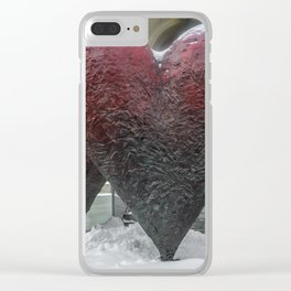 """The iconic sculpture of """"Twin 6' Hearts"""" Clear iPhone Case"""