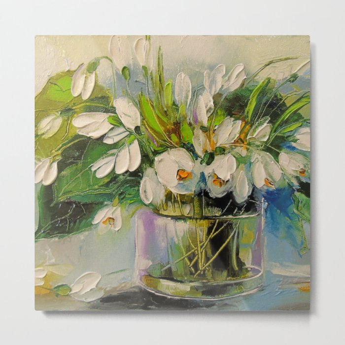 Bouquet of snowdrops Metal Print
