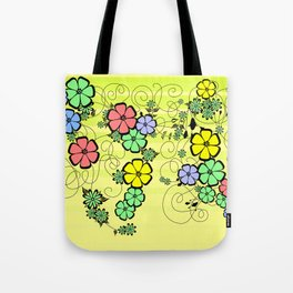 Abstract floral ornament Tote Bag
